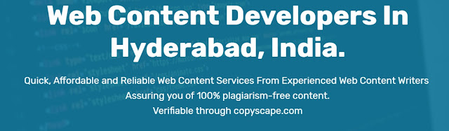 Website Content Developers Hyderabad