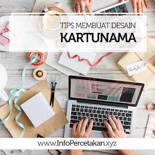 TIPS MEMBUAT DESAIN KARTUNAMA