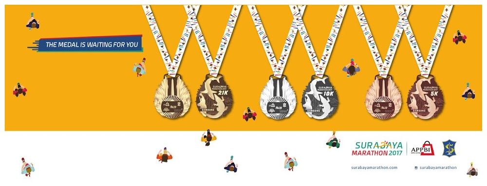 Medali Surabaya Half Marathon • 2017