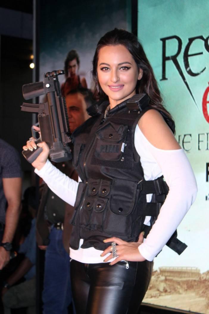 Sonakshi Sinha Stills At Film Game Launch In White Top