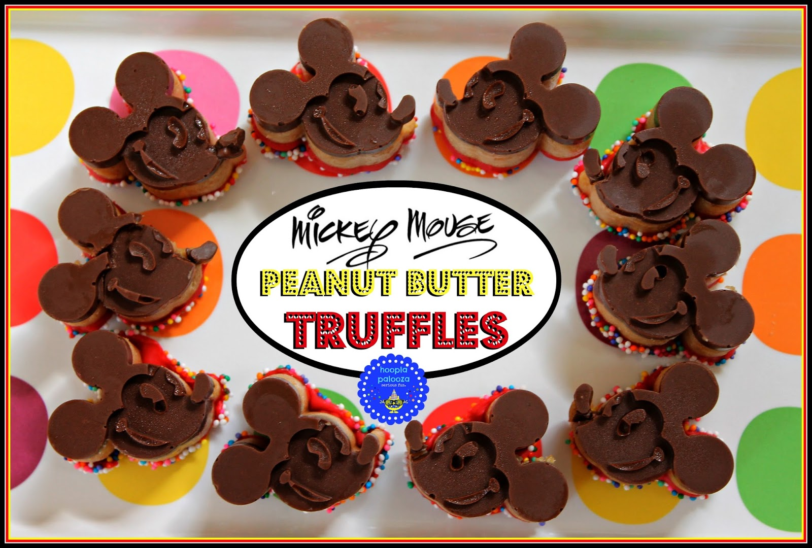 Mickey Mouse Peanut Butter Truffles