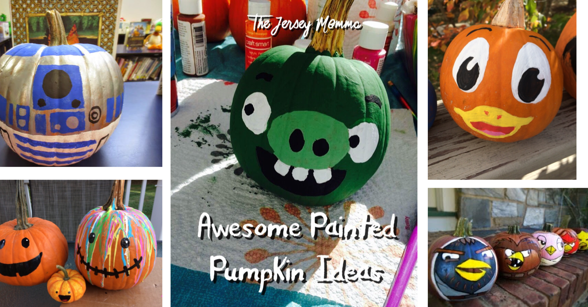 Awesome Painted Pumpkin Ideas From Around The Web Jersey Momma