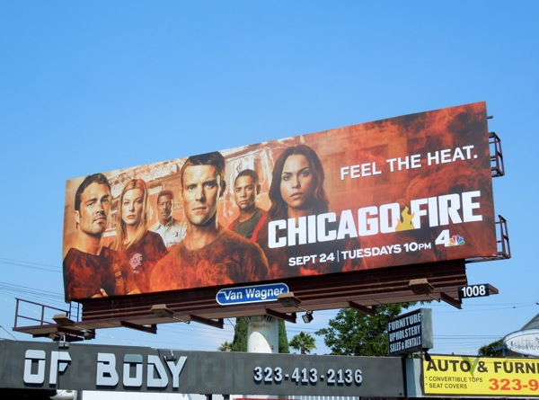 Chicago Fire season 2 Feel the heat billboard