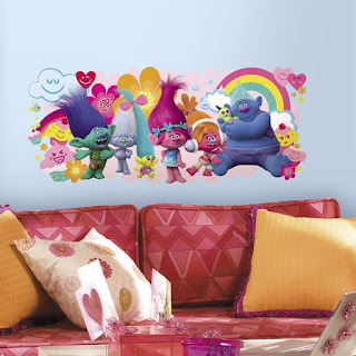 Trolls Movie Giant Wall Decal