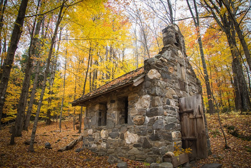 October 2016 photo by Corey Templeton. A little stone chapel atop a hill near the von Trapp Family compound in Stowe, VT.