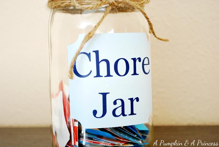 Ticket Chore Jar