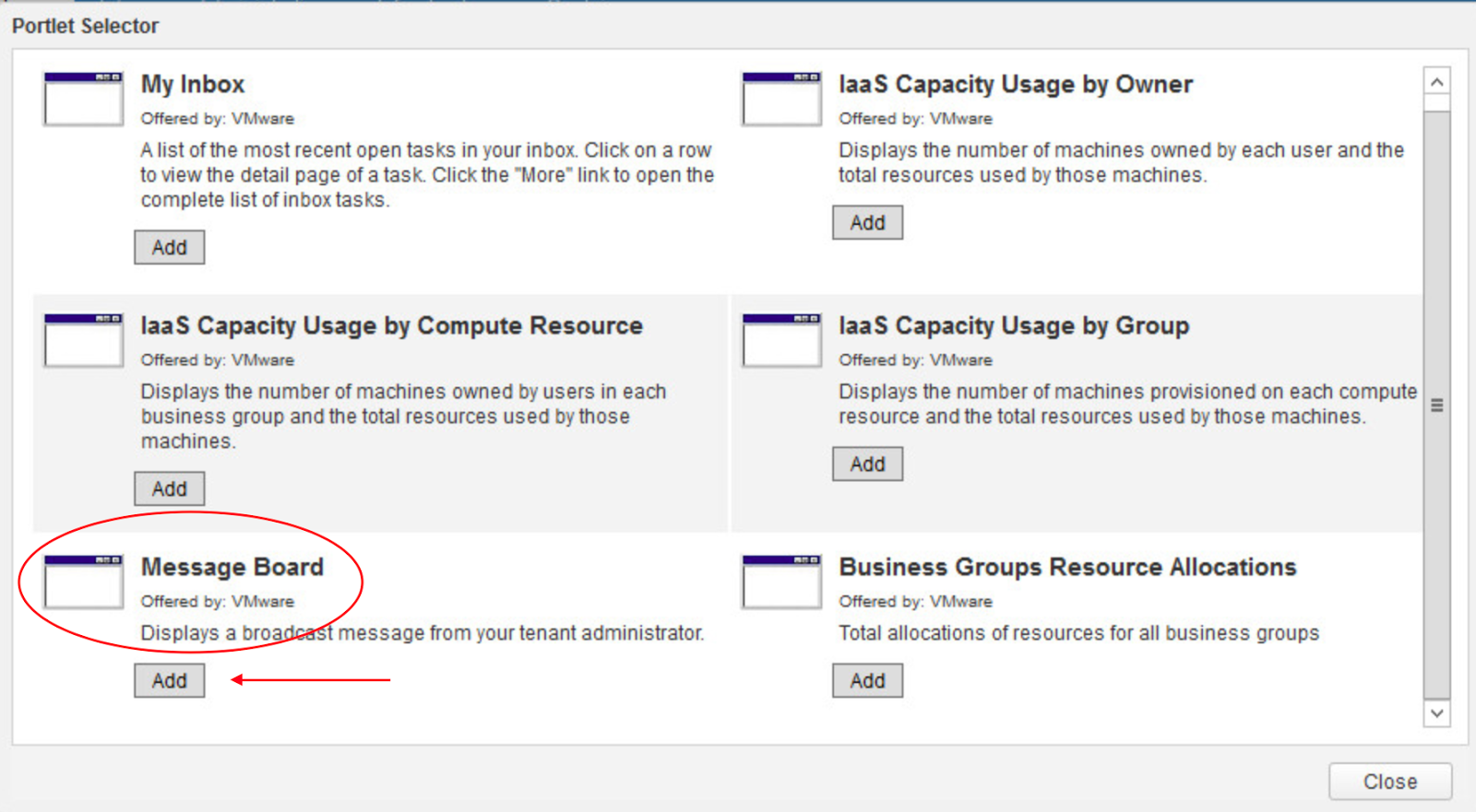 Just Another IT blog: vRealize Automation – Message Board