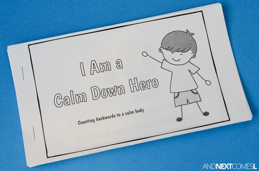 free printable story for kids to learn calm down strategies from and next comes l