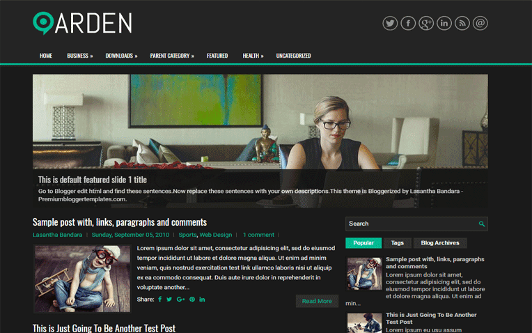 Arden Free Blogger Template