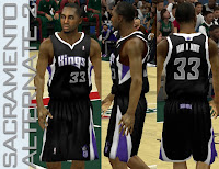 NBA 2K13 Sacramento Kings Alternate #2 Jersey