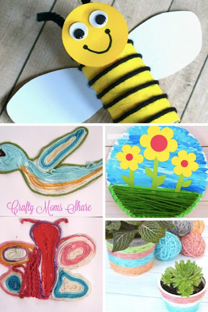 super-cute-spring-crafts-for-kids-using-yarn