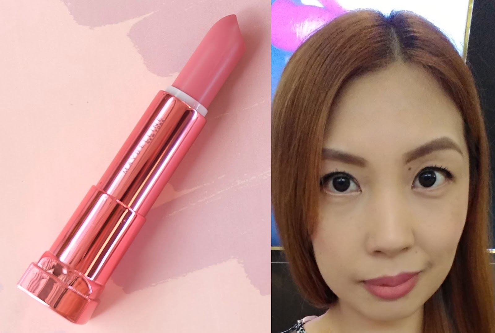 Product Review Maybelline Rosy Matte Lipstick Photos And Swatches Lipstik In Peach