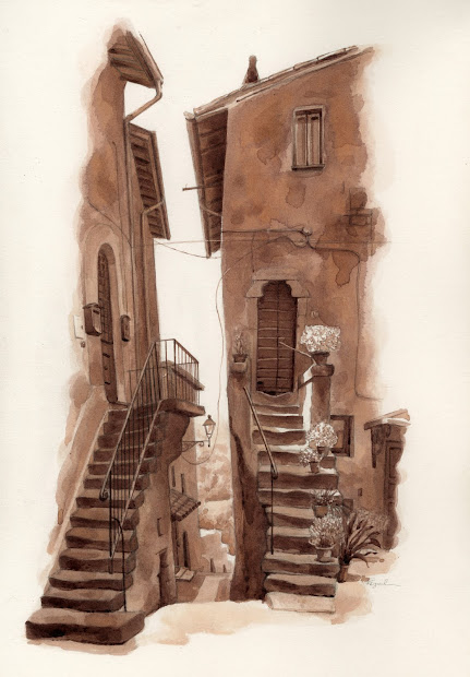 Stone Stairs Drawing