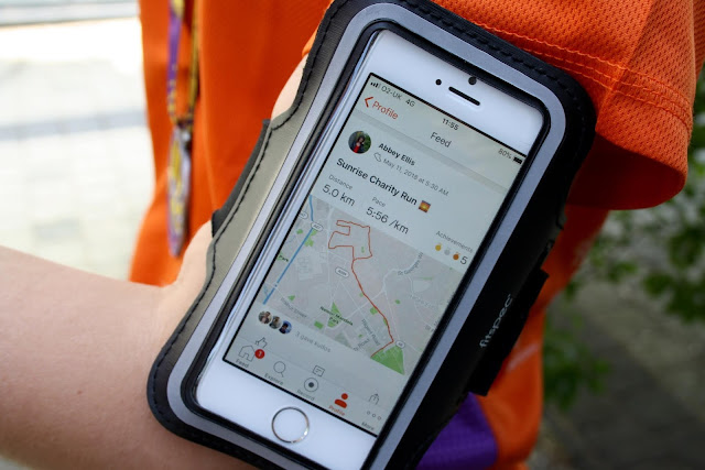 run running runner armband strava app