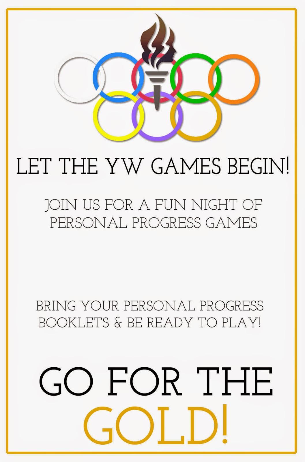 {Personal Progress} YW Personal Progress Olympics: Game ...