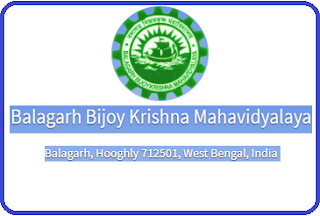 Balagarh Bijoy Krishna Mahavidyalaya, Balagarh, Hooghly - 712501, West Bengal