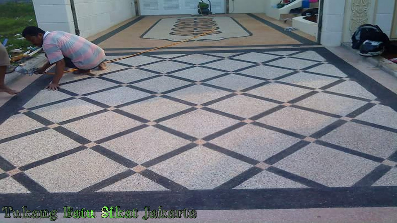 35 Koleksi Foto Batu Sikat Motif Diagonal Kotak Jasa Pasang Carport Batu Sikat Jakarta