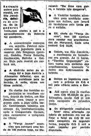 Torcidas do Vasco  FORÇA JOVEM E TOV 1977  ALMOÇO DE ... 8a5b03eb915e3