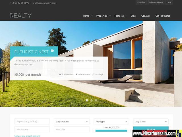 Real Estate WordPress Premium Theme | MyHome