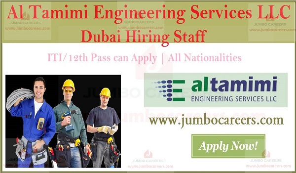 Urgent ITI jobs in Dubai, Current job openings in Dubai,