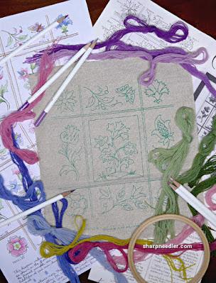Crewel Sampler (by Elsa Williams): Kit contents