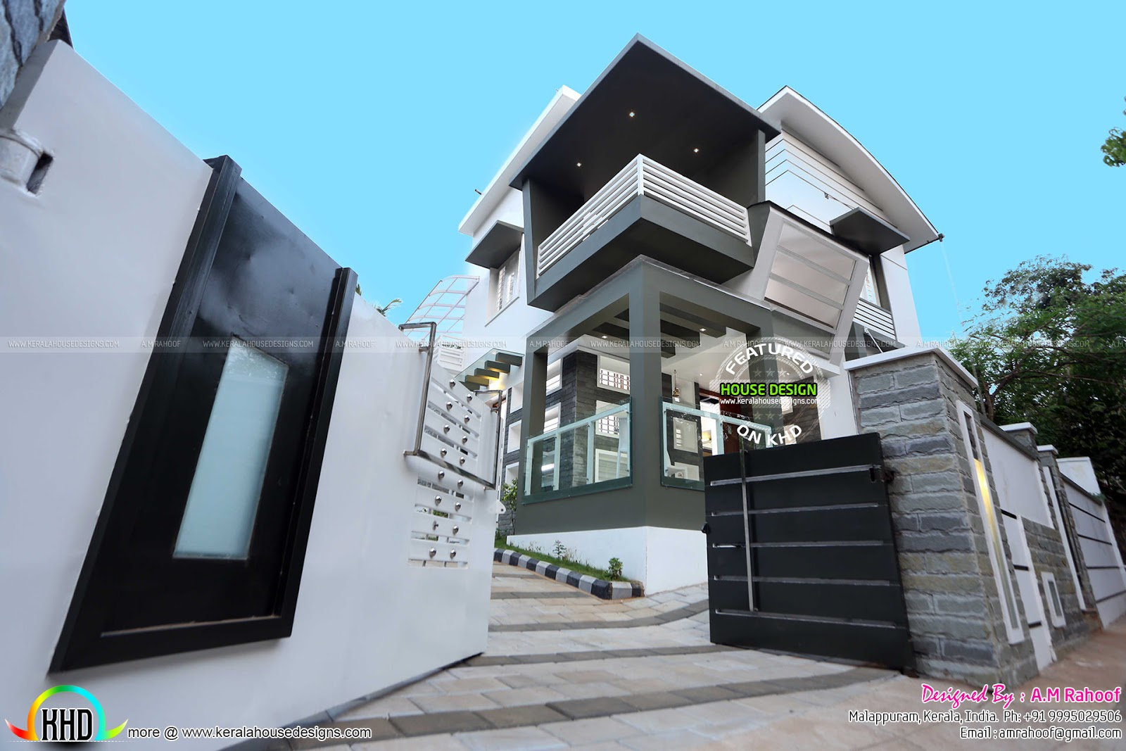 Front Elevation Ground Floor Furnished : Work finished furnished house with interiors kerala