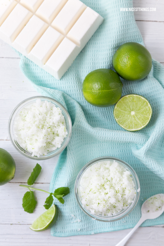 DIY Mint Lime Sugar Scrub