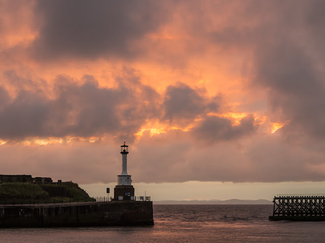 Photo of the sunset that greeted us on our return home to Maryport