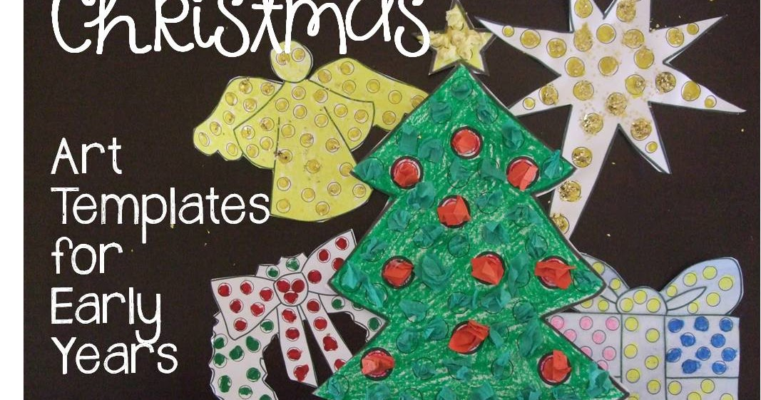Rainbow Lily Designs Christmas Craft Templates for Early