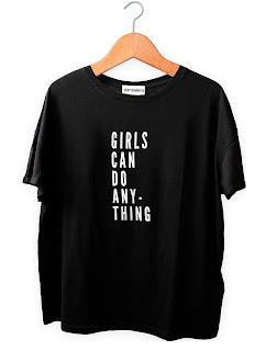 Camiseta Feminista Girls Can Do Anything