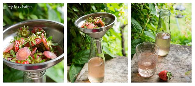 eau de fraises © Popote et Nature