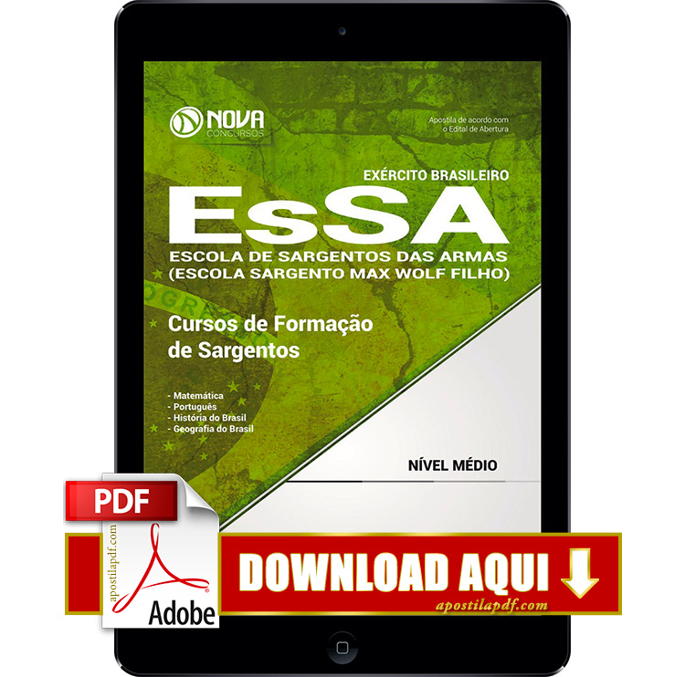 Apostila EsSA 2017 PDF Download Digital Sargentos do Exército