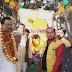 सिकंदरपुर -संत शिरोमणि बाबा रविदास की निकली भव्य शोभायात्रा