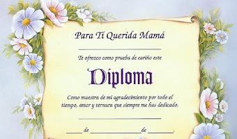 Diplomas para mamá para imprimir