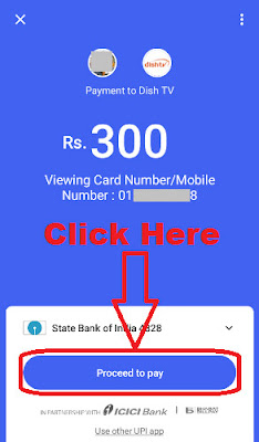 how to pay dish tv recharge online through tez app