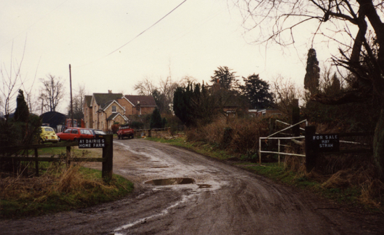Photograph of A1 Dairies, Home Farm, Bell Bar 1990s Image from R Kingdon, part of the Images Of North Mymms Collection