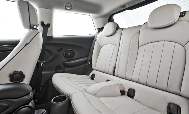 2014 Mini Cooper rear seats