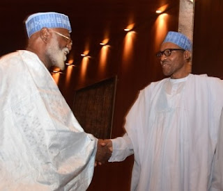 Abdusalami, Buhari In Closed Door Meet In Aso Rock