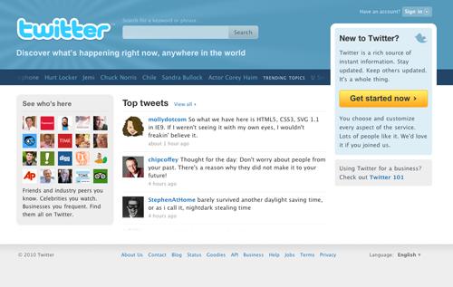 Twitter di Tahun 2010