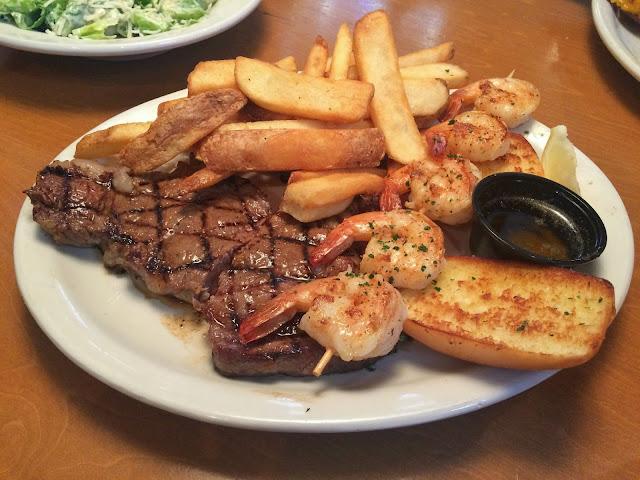 Ribeye Steak Combo with Grilled Shrimp at the Texas Roadhouse, Sidra, Kuwait
