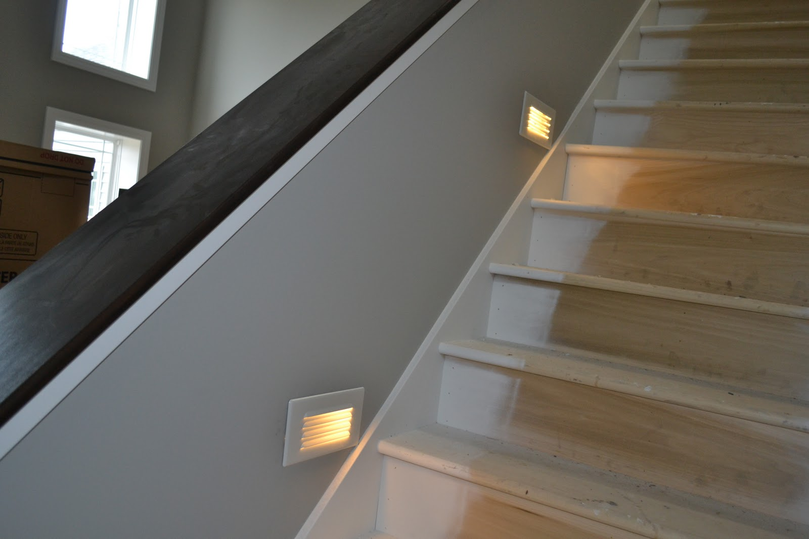 Lighting Basement Washroom Stairs: De Jong Dream House: Lighting, LVT And Loving Our Tile
