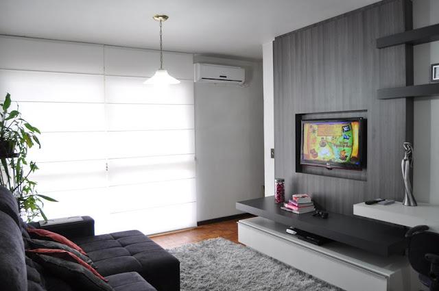 Sala De Tv Com Sofa Amarelo ~ Construindo Minha Casa Clean Dúvida de Decoração  Sala de Estar e
