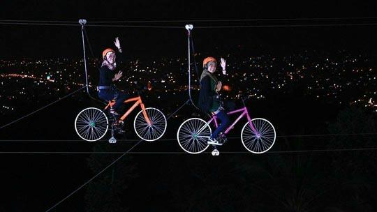Sepeda Gantung di Puncak Mas Bandar Lampung