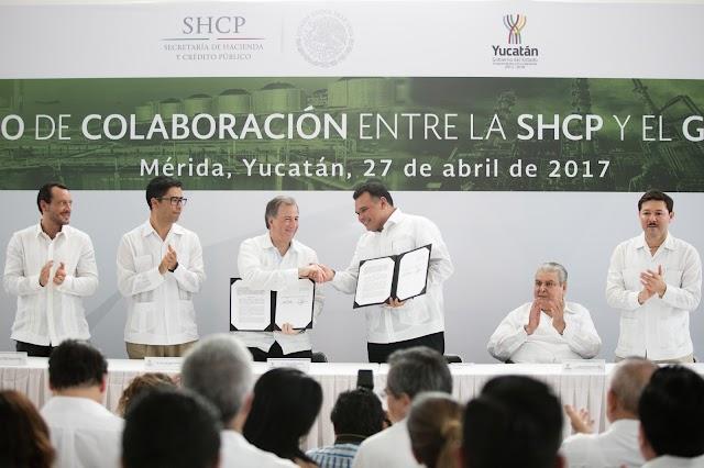Firman SHCP y gobierno convenio Por un Yucatán más productivo