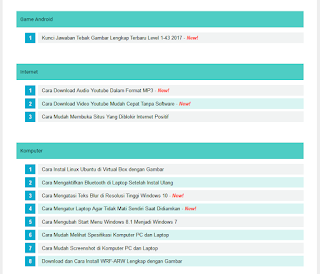Widget Daftar Isi Blog Style 4