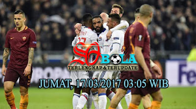 PREDIKSI PERTANDINGAN AS ROMA Vs OLYMPIQUE LYON 17/03/2017