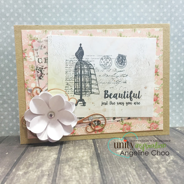 ScrappyScrappy: Just as you are #scrappyscrappy #unitystampco #card #stamp #vintage #sotw