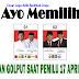 Adik Berjilbab Putih Sukseskan Pemilu 17 April 2019