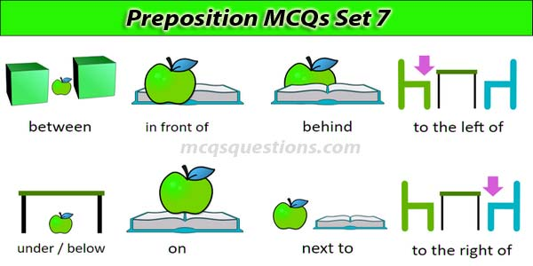 Preposition MCQs Set 7