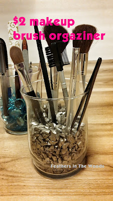 Pretty makeup brush organizer, DIY